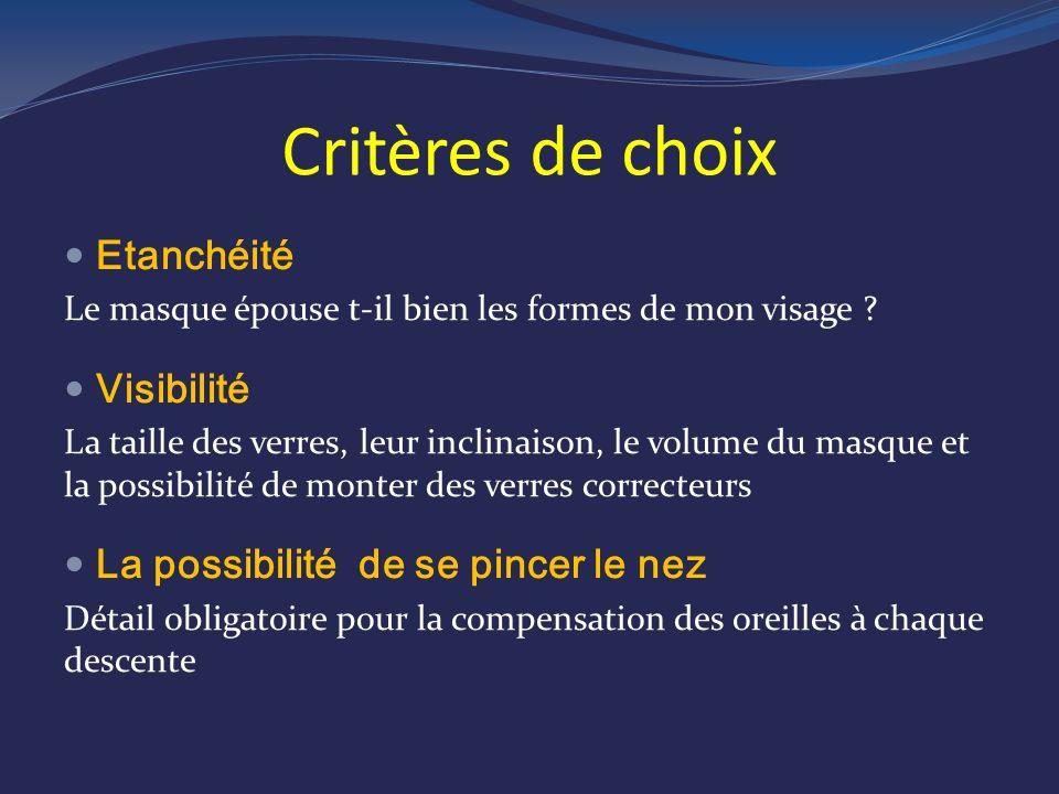 Critères de choix Etanchéité Visibilité