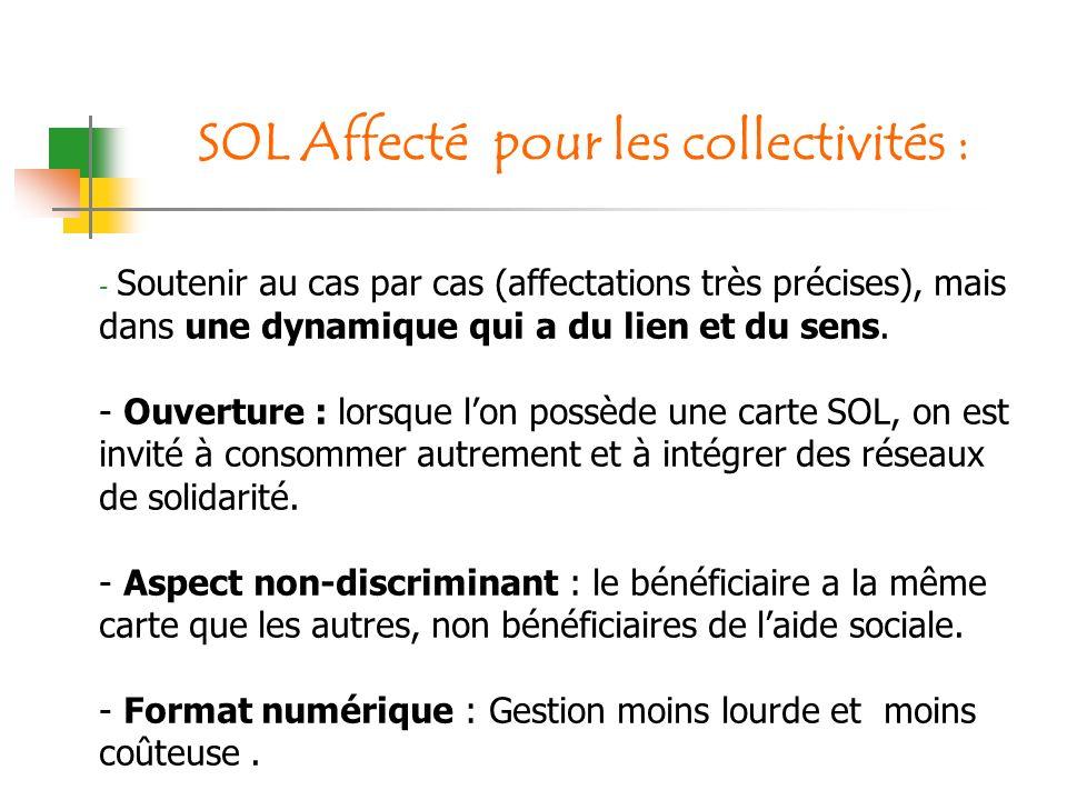 SOL Affecté pour les collectivités :