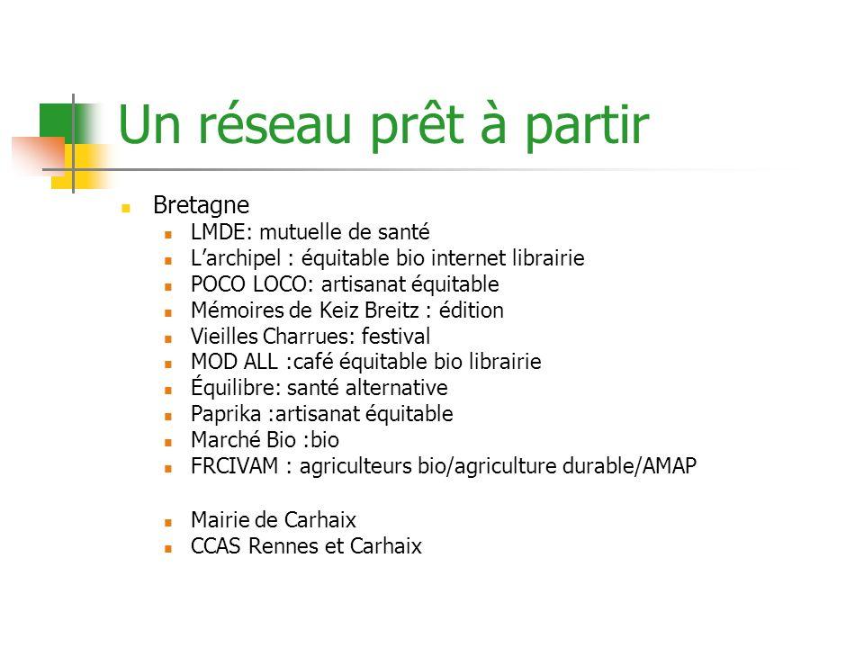 Un réseau prêt à partir Bretagne LMDE: mutuelle de santé