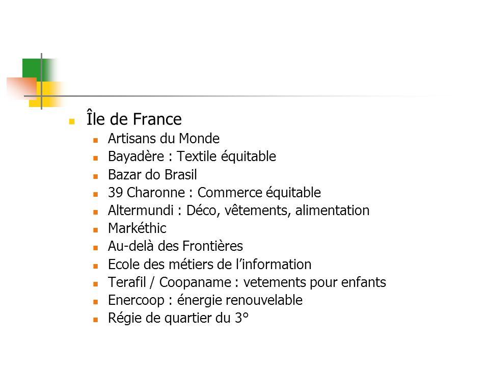 Île de France Artisans du Monde Bayadère : Textile équitable