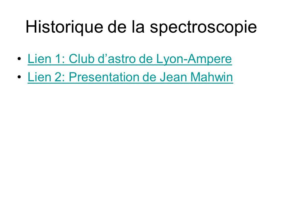 Historique de la spectroscopie