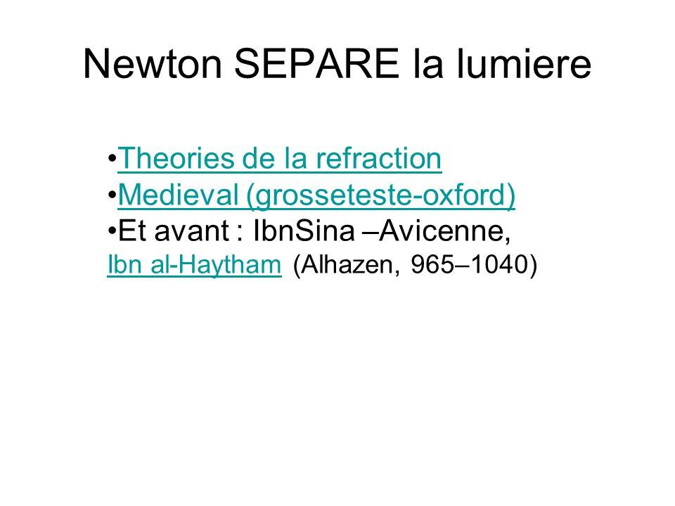 Newton SEPARE la lumiere
