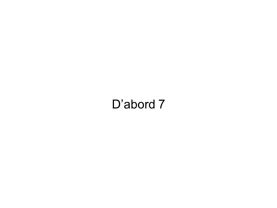 D'abord 7