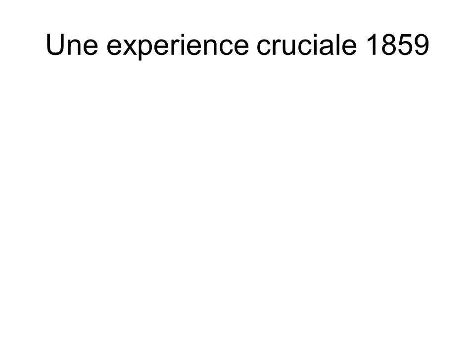 Une experience cruciale 1859