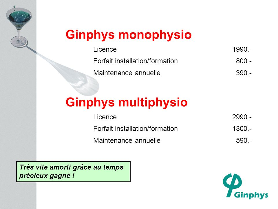 Ginphys monophysio Ginphys multiphysio Licence 1990.-