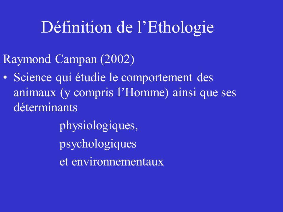 Définition de l'Ethologie