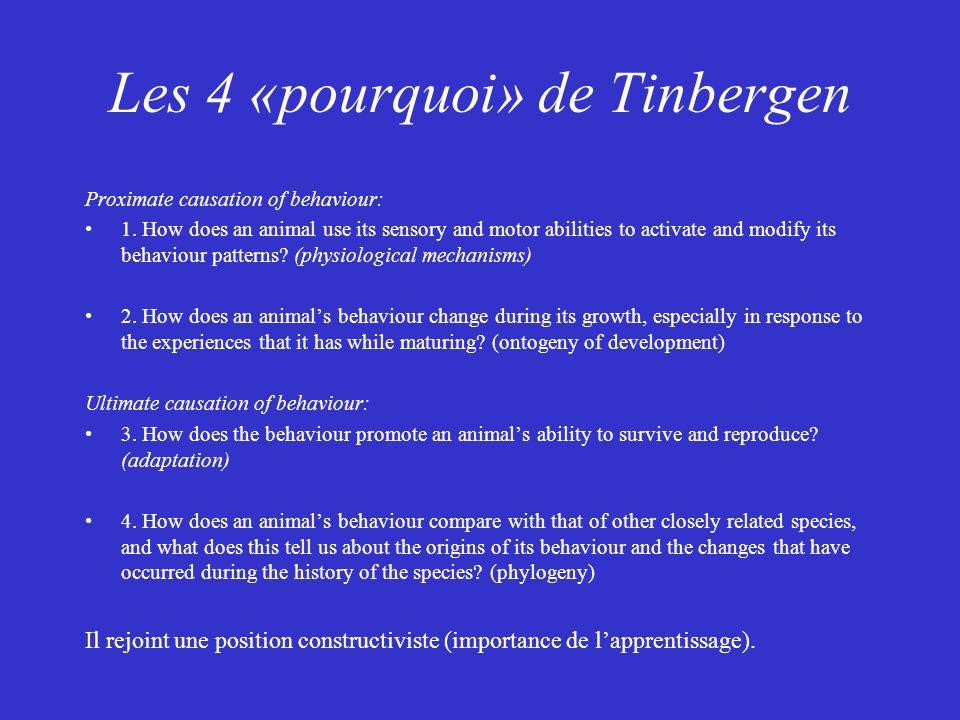 Les 4 «pourquoi» de Tinbergen
