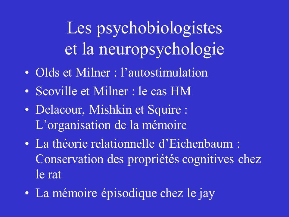 Les psychobiologistes et la neuropsychologie