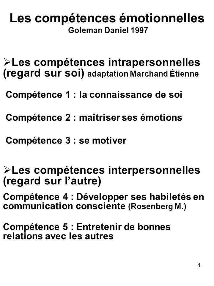 Les compétences émotionnelles Goleman Daniel 1997