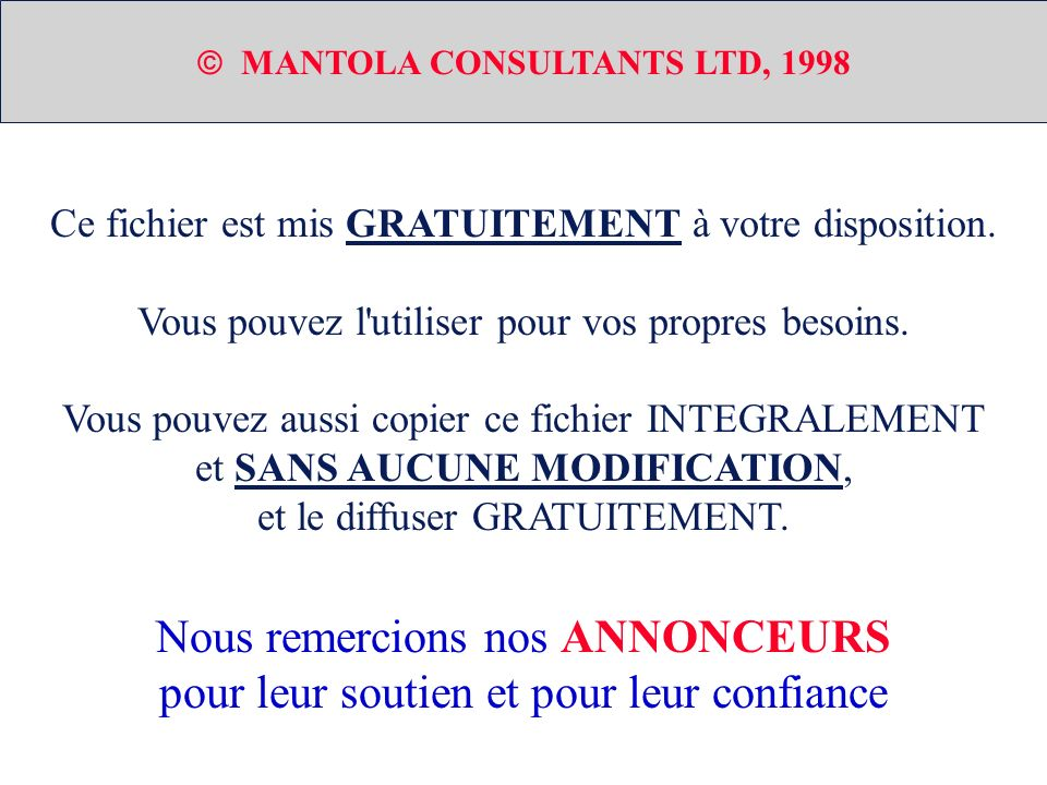  MANTOLA CONSULTANTS LTD, 1998