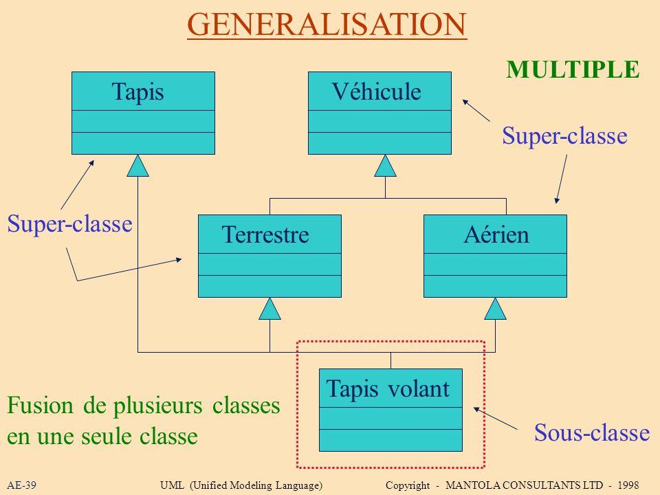 GENERALISATION MULTIPLE Tapis Véhicule Super-classe Super-classe