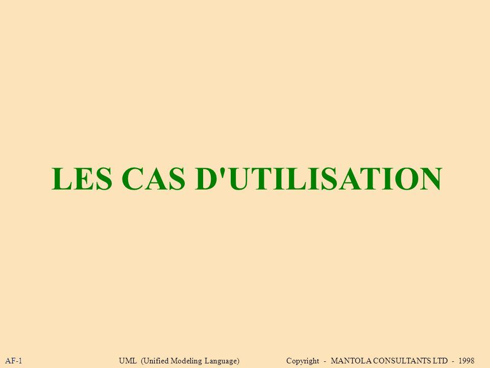 LES CAS D UTILISATION AF-1