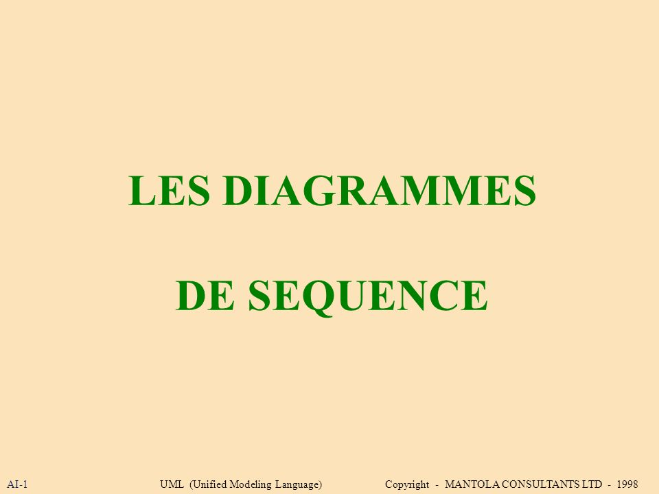 LES DIAGRAMMES DE SEQUENCE