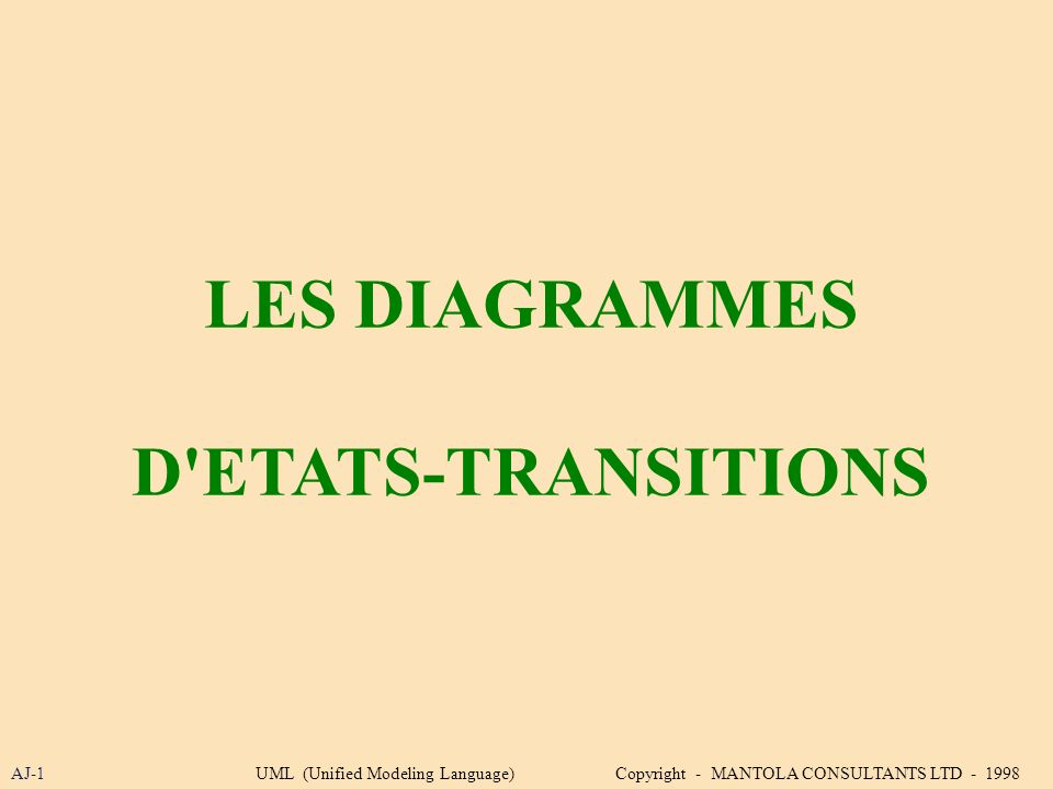 LES DIAGRAMMES D ETATS-TRANSITIONS