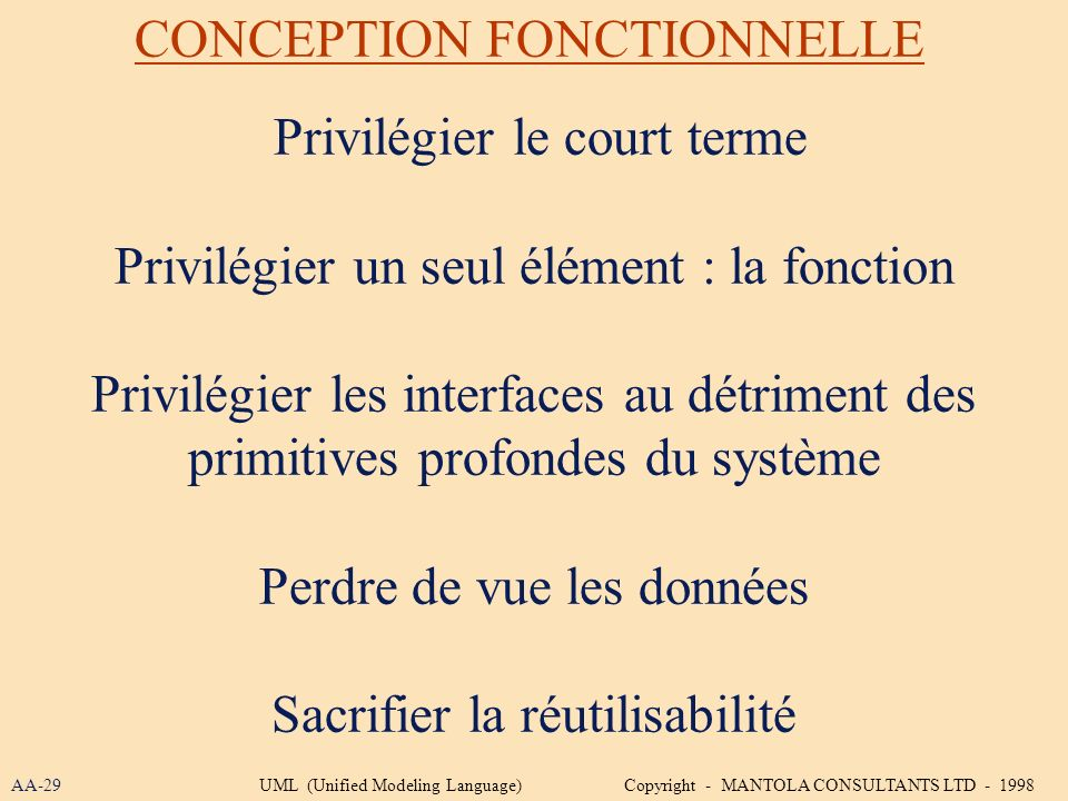 CONCEPTION FONCTIONNELLE