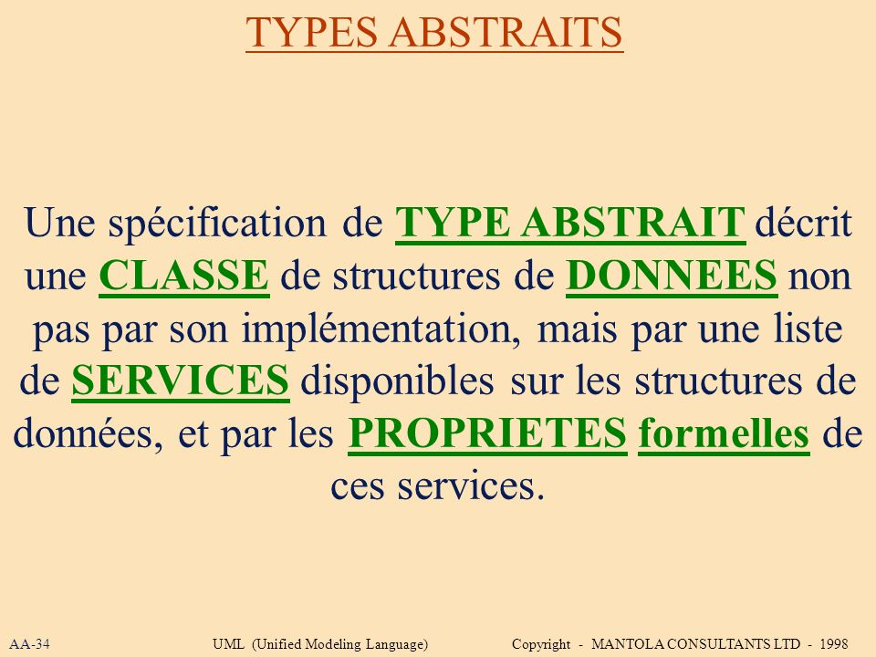 TYPES ABSTRAITS