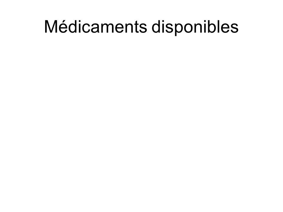 Médicaments disponibles