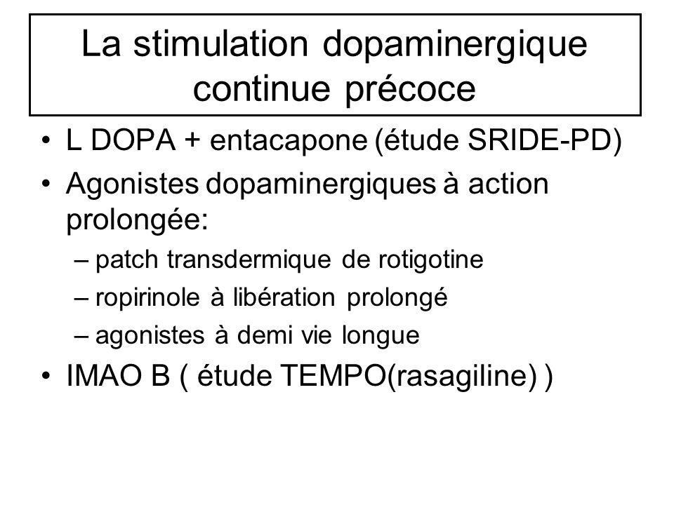 La stimulation dopaminergique continue précoce