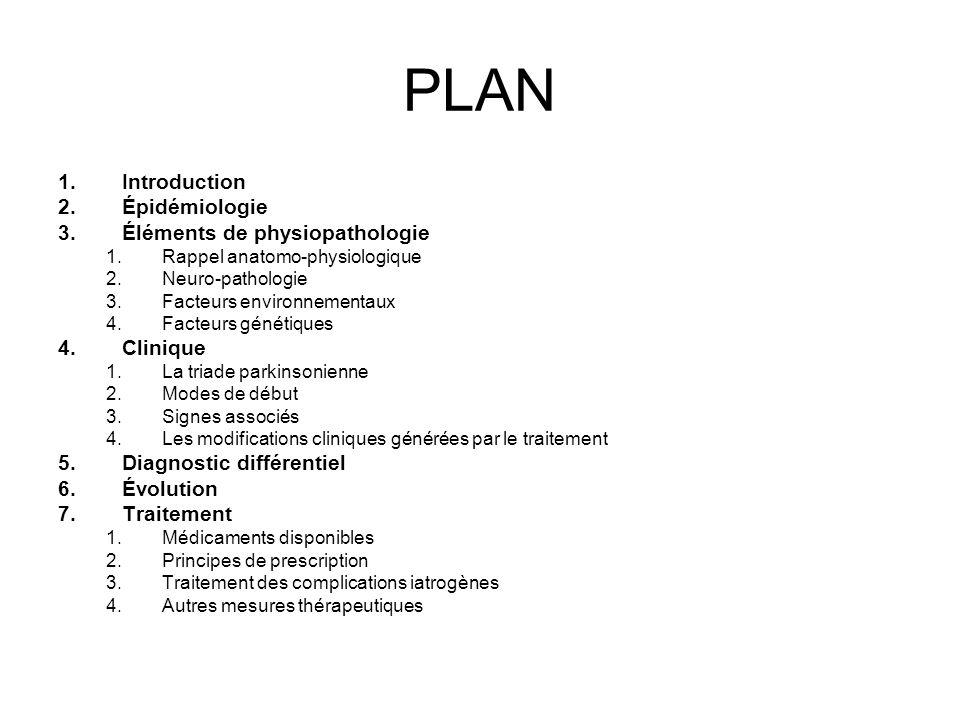 PLAN Introduction Épidémiologie Éléments de physiopathologie Clinique