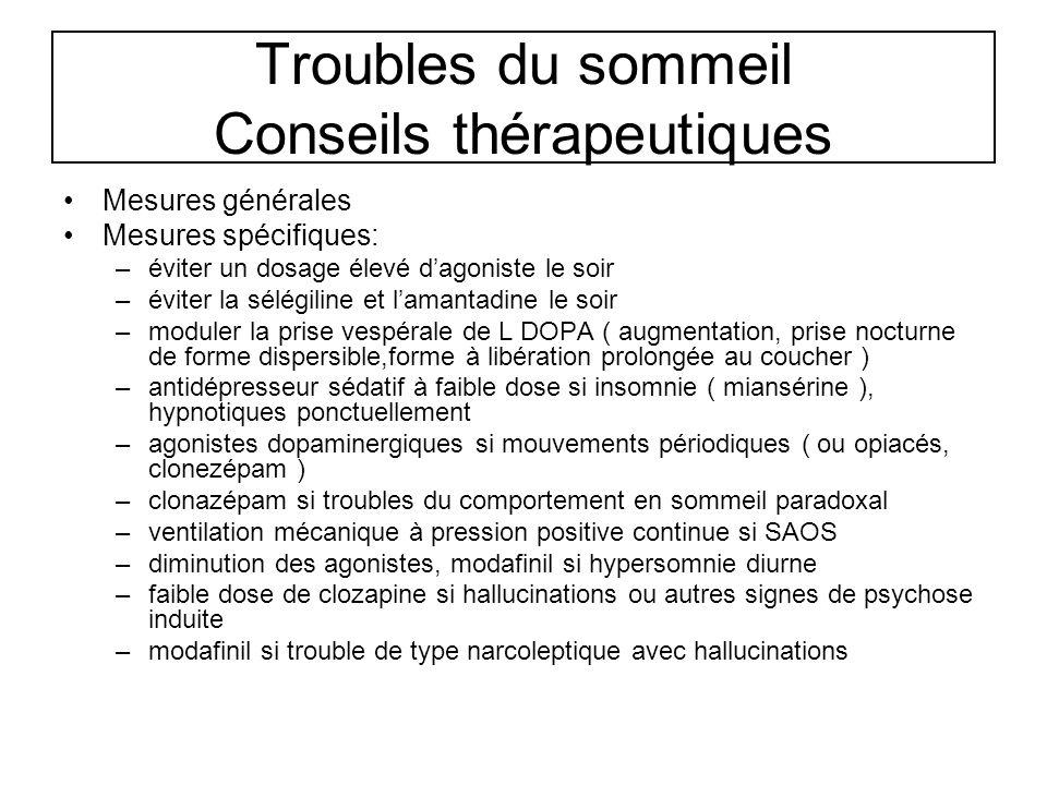 Troubles du sommeil Conseils thérapeutiques