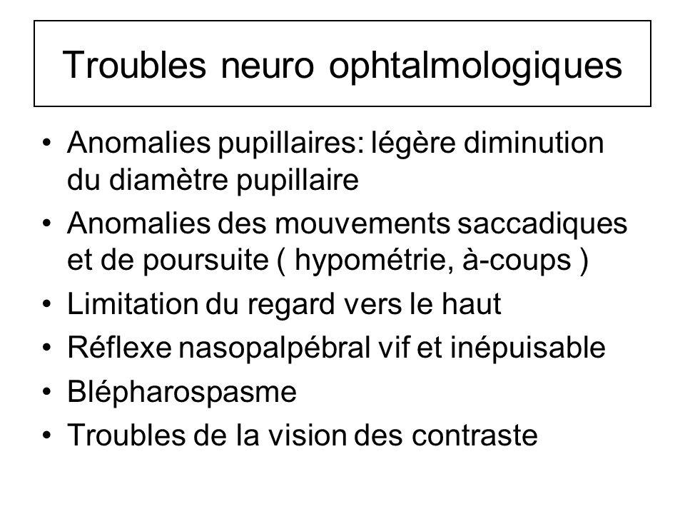 Troubles neuro ophtalmologiques
