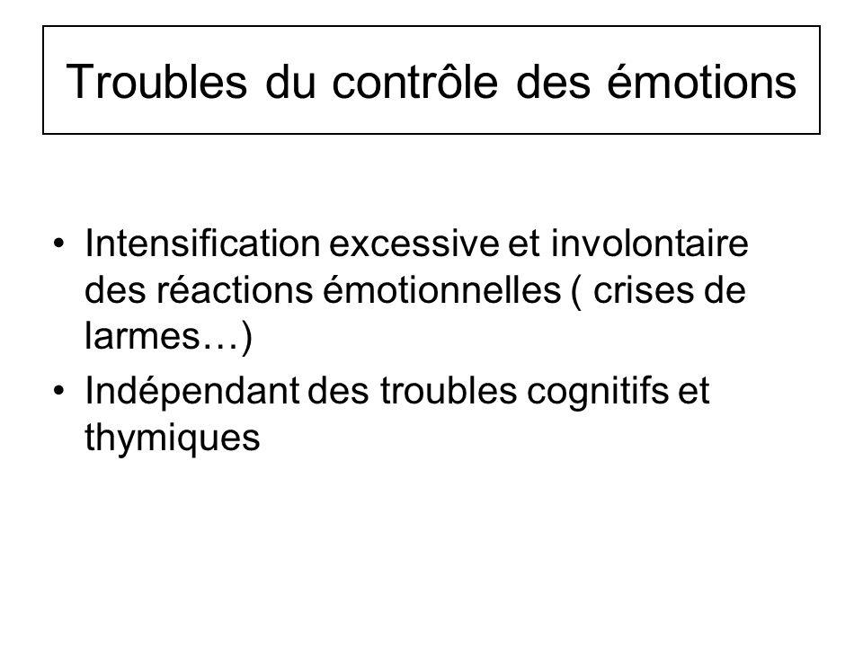 Troubles du contrôle des émotions