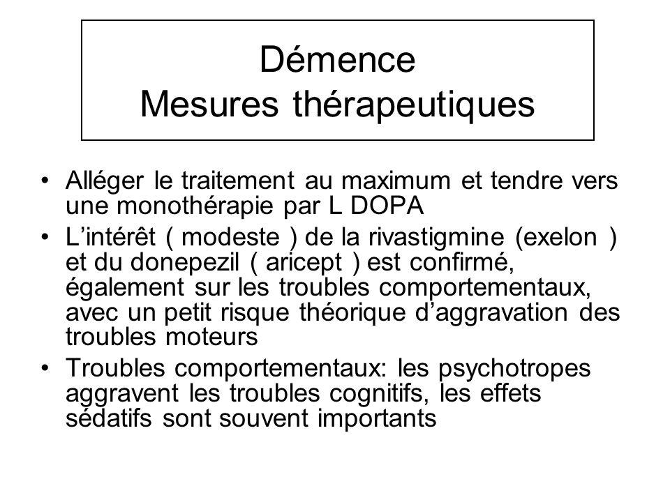 Démence Mesures thérapeutiques