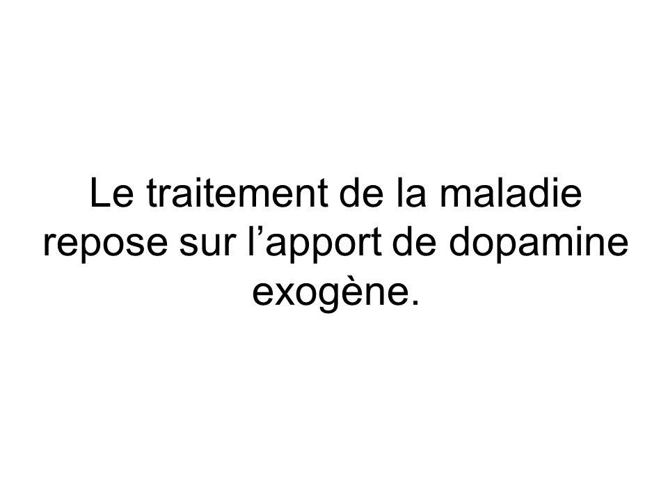 Le traitement de la maladie repose sur l'apport de dopamine exogène.