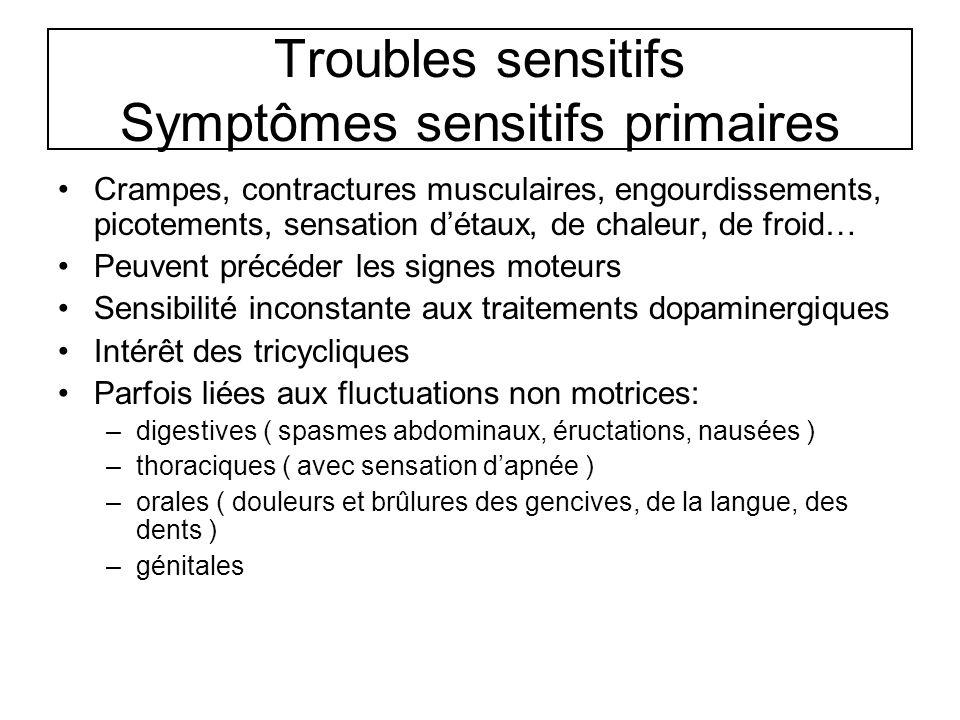 Troubles sensitifs Symptômes sensitifs primaires
