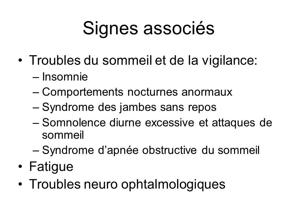 Signes associés Troubles du sommeil et de la vigilance: Fatigue