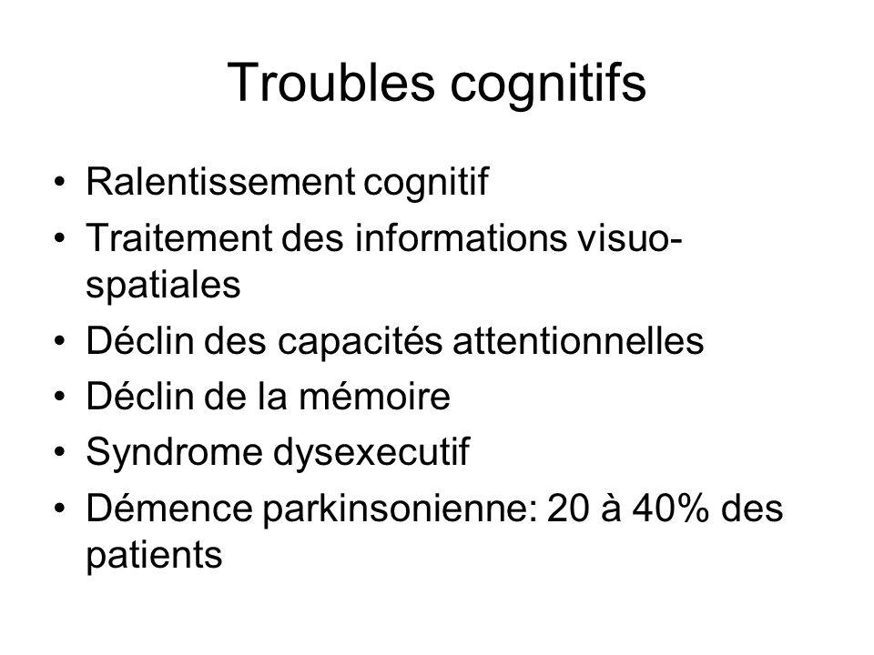Troubles cognitifs Ralentissement cognitif