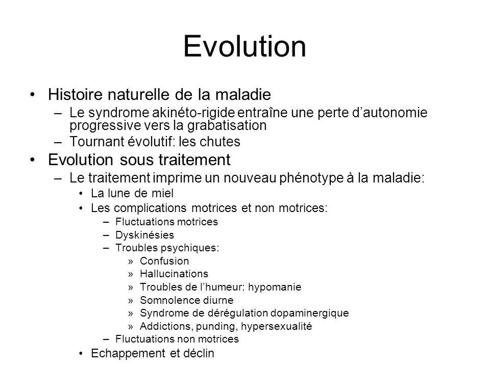 Evolution Histoire naturelle de la maladie Evolution sous traitement