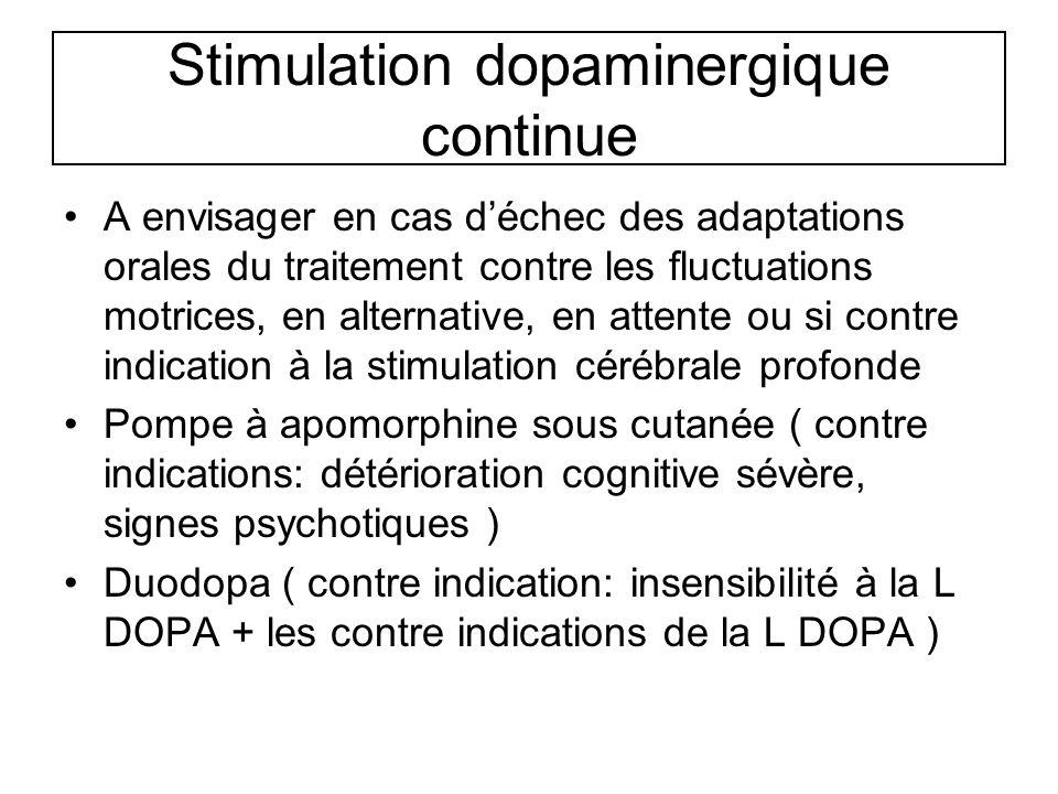 Stimulation dopaminergique continue