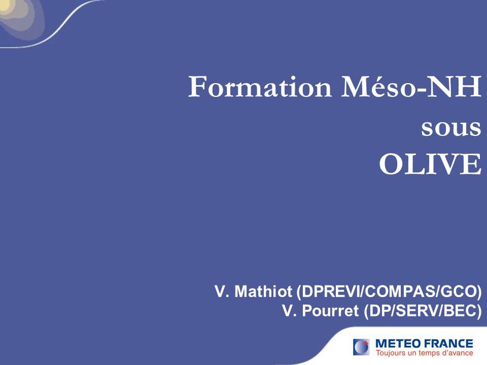 Formation Méso-NH sous OLIVE V. Mathiot (DPREVI/COMPAS/GCO) V