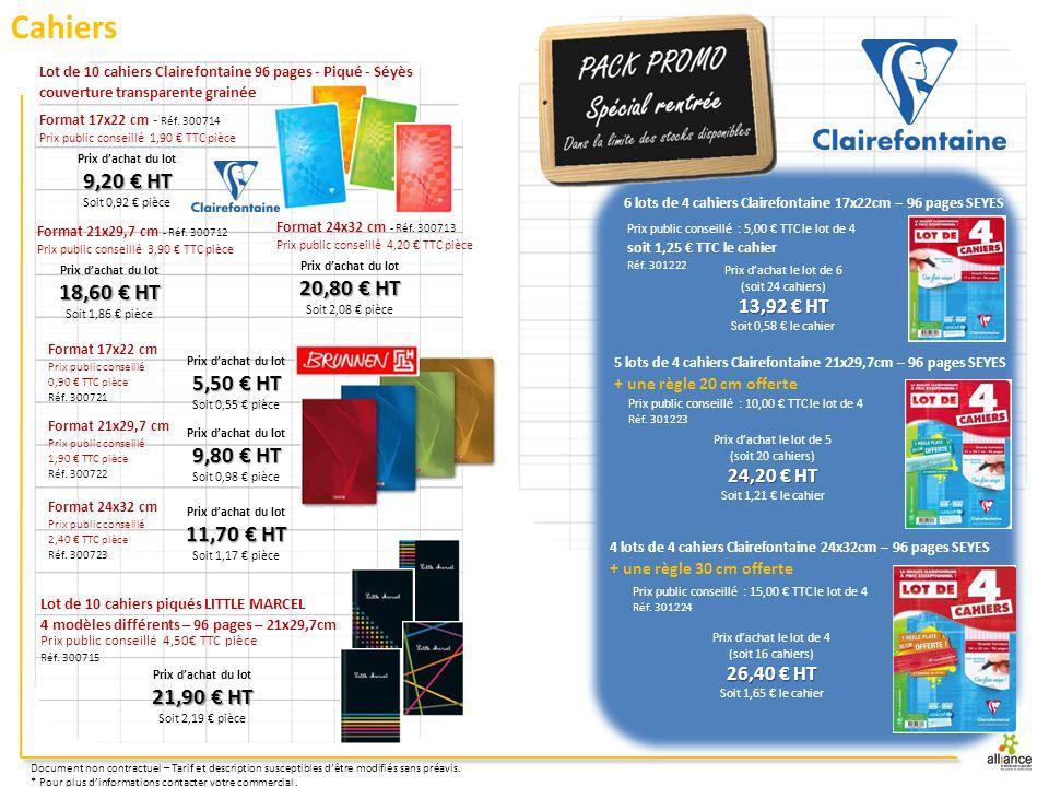 Cahiers 9,20 € HT 20,80 € HT 18,60 € HT 5,50 € HT 9,80 € HT 11,70 € HT