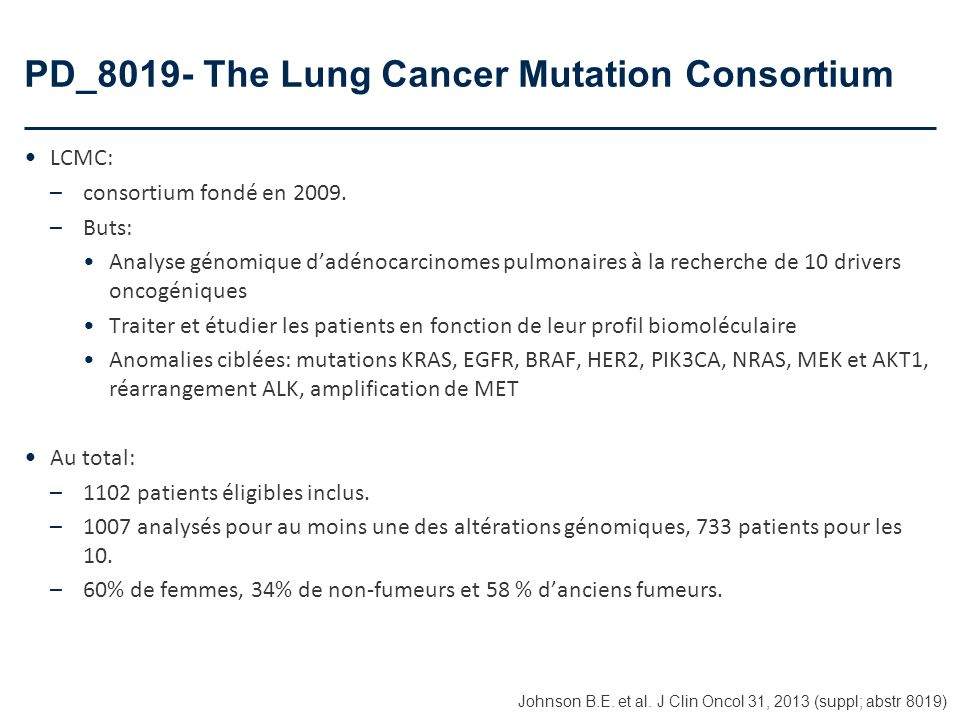 PD_8019- The Lung Cancer Mutation Consortium