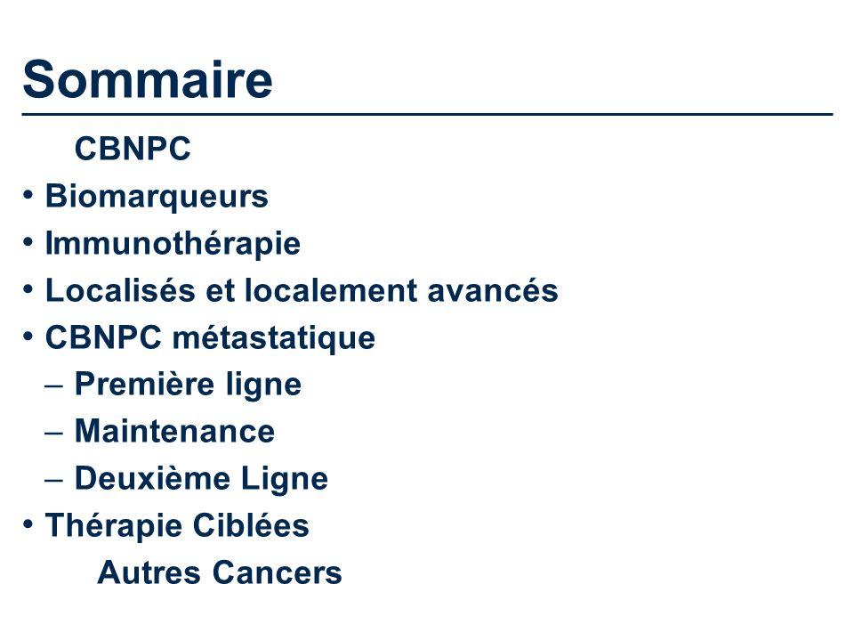 Sommaire CBNPC Biomarqueurs Immunothérapie