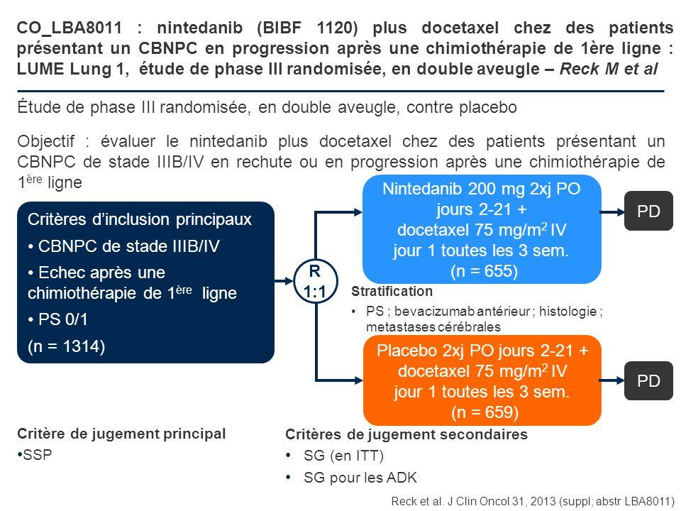 Étude de phase III randomisée, en double aveugle, contre placebo