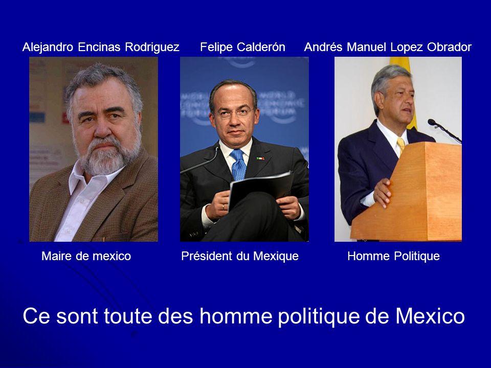 Ce sont toute des homme politique de Mexico