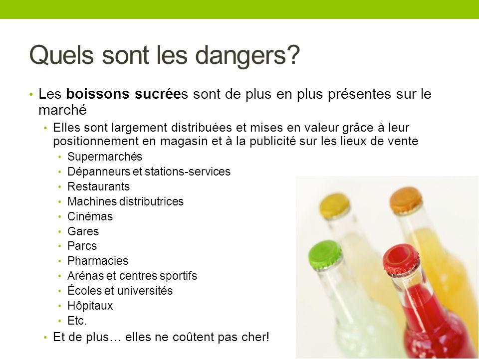 Quels sont les dangers Les boissons sucrées sont de plus en plus présentes sur le marché.