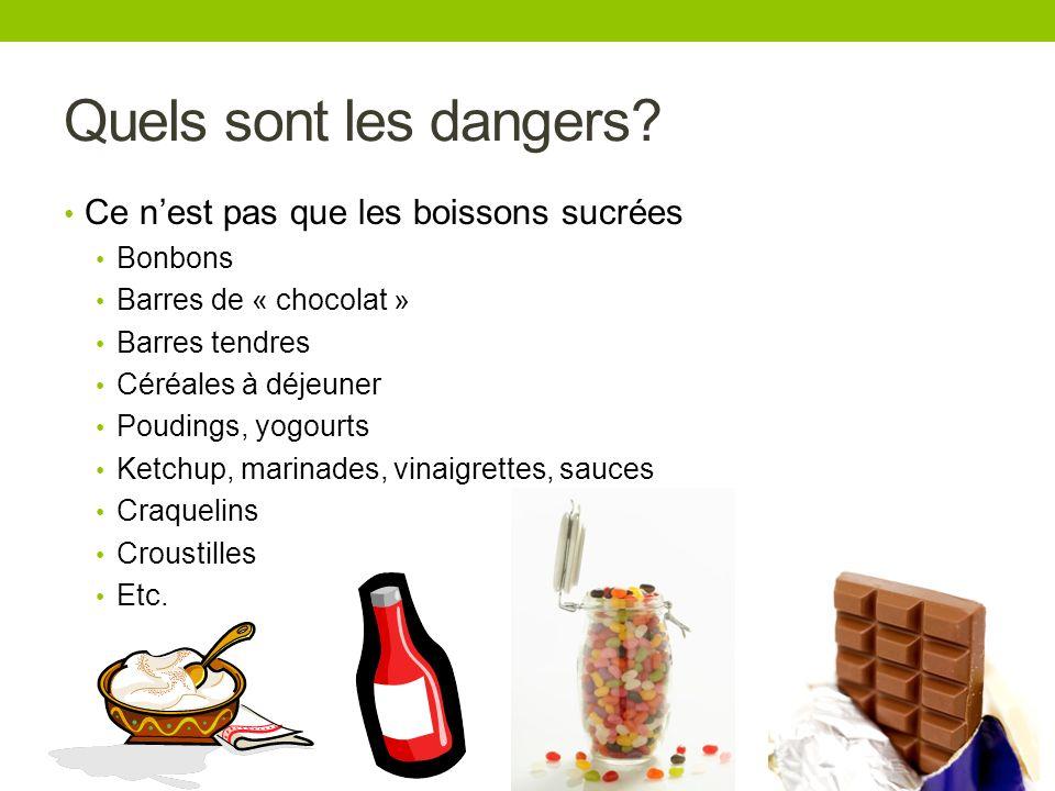 Quels sont les dangers Ce n'est pas que les boissons sucrées Bonbons