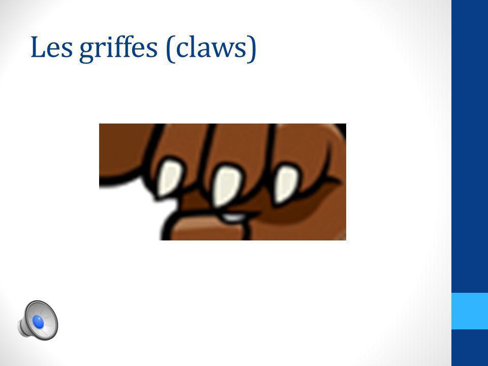 Les griffes (claws)