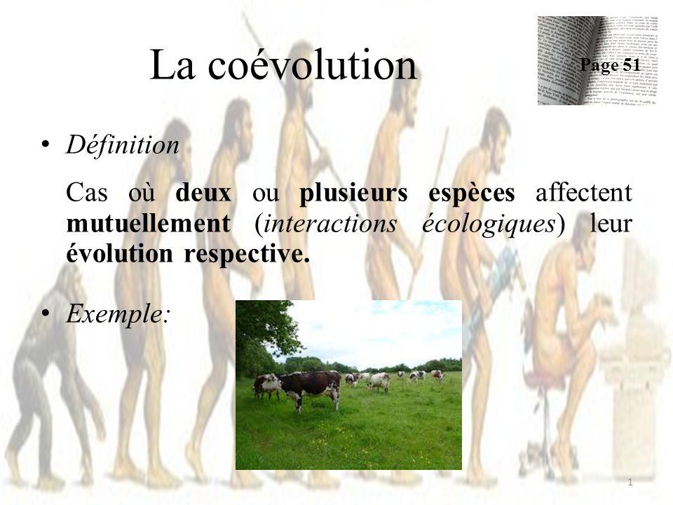 La coévolution Définition