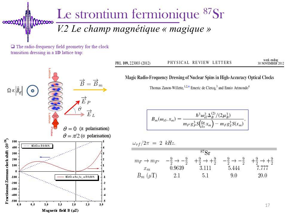 Le strontium fermionique 87Sr