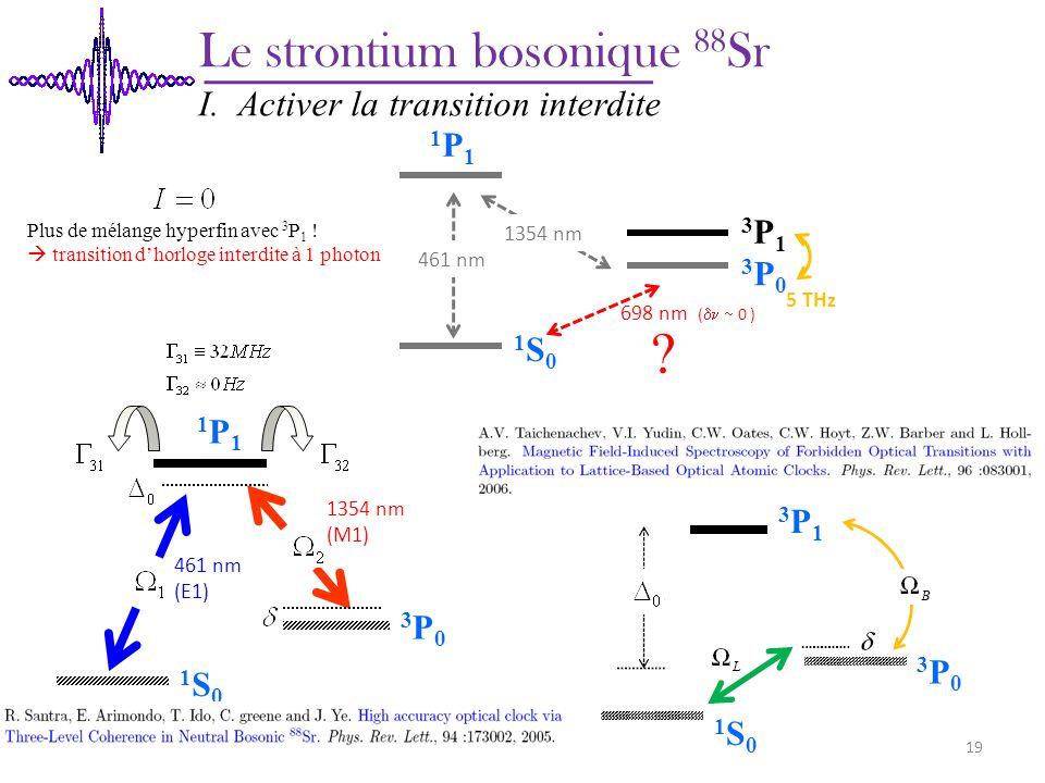 Le strontium bosonique 88Sr I. Activer la transition interdite 1P1
