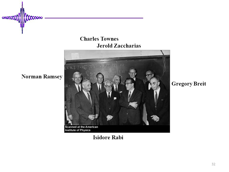 Charles Townes Jerold Zaccharias Norman Ramsey Gregory Breit Isidore Rabi