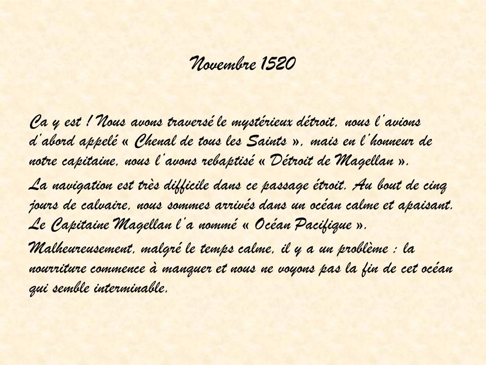 Novembre 1520