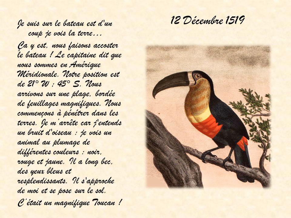 12 Décembre 1519 Je suis sur le bateau est d un coup je vois la terre…