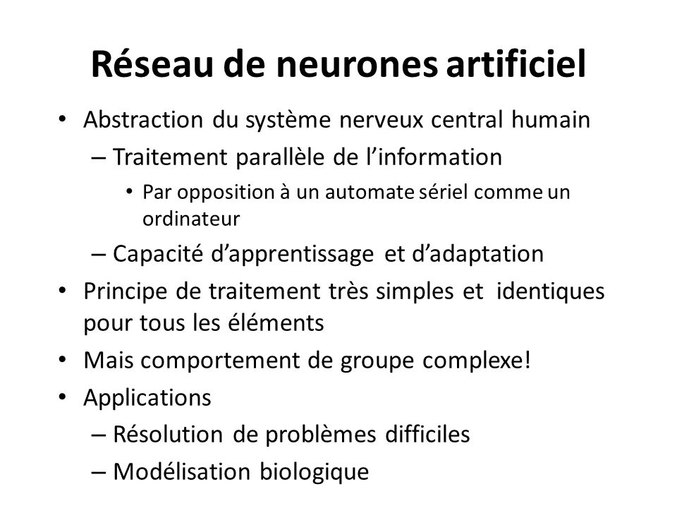 Réseau de neurones artificiel