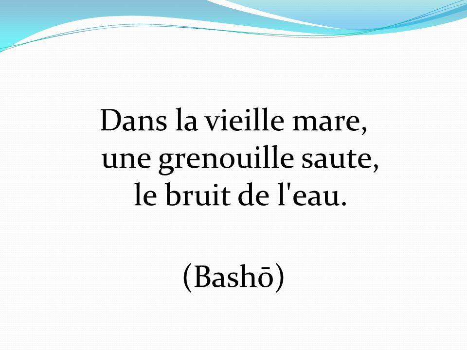 Dans la vieille mare, une grenouille saute, le bruit de l eau. (Bashō)